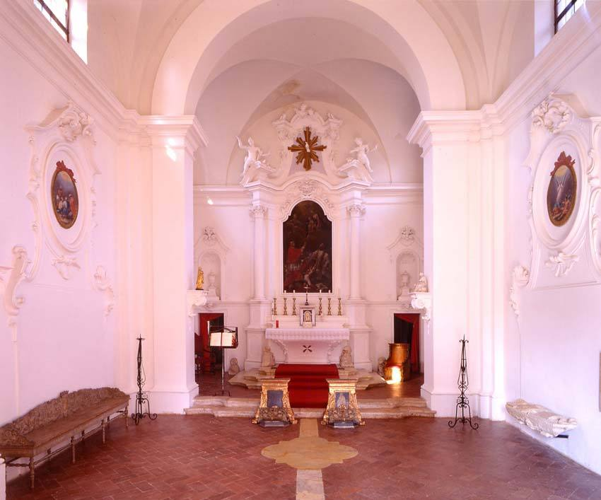 Interior of Private church at Relais La Suvera for Tuscany weddings