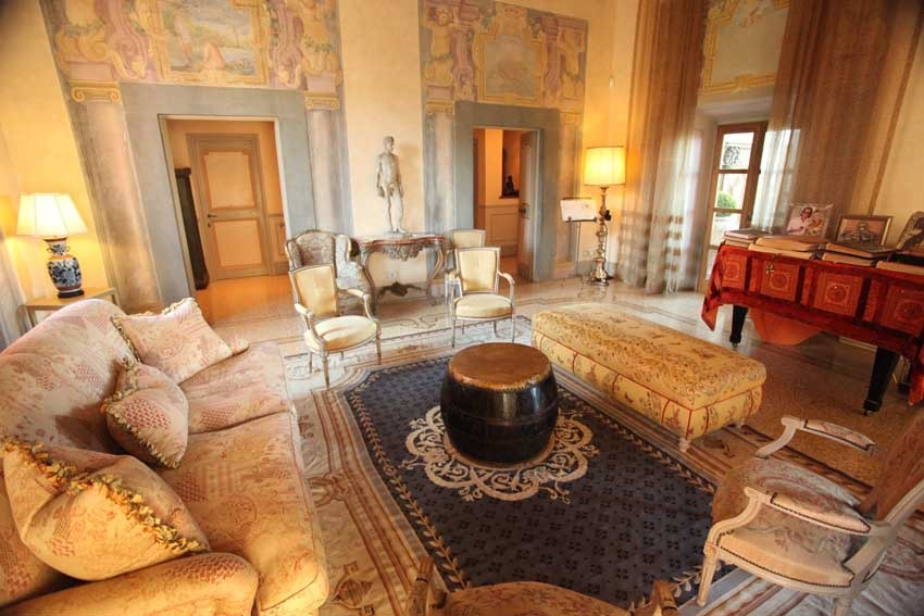 Interior of Facade of Villa Mangiacane for Tuscany weddings in the Chianti region