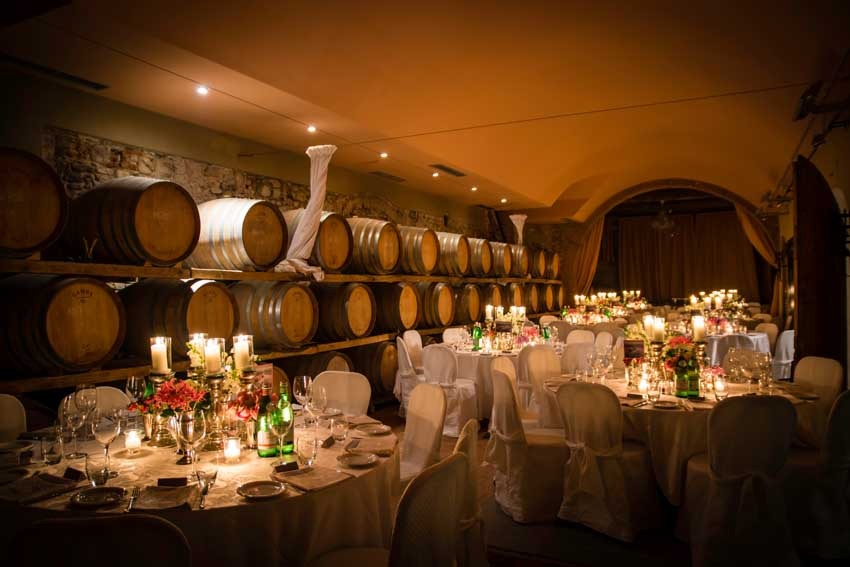 Wedding reception at Villa Mangiacane for Tuscany weddings in the Chianti region