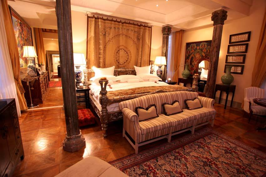Luxury room at Villa Mangiacane in Tuscany