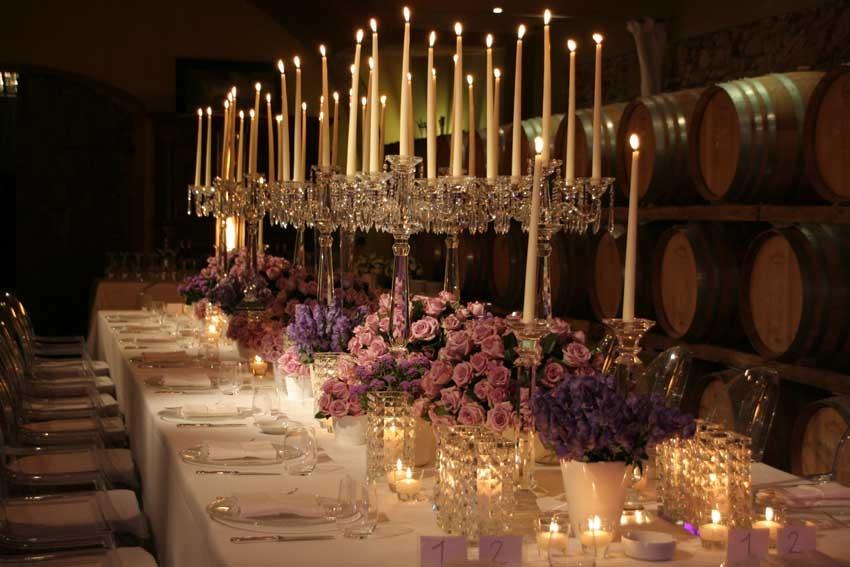 Reception in the cellar of Villa Mangiacane for Tuscany weddings in the Chianti region