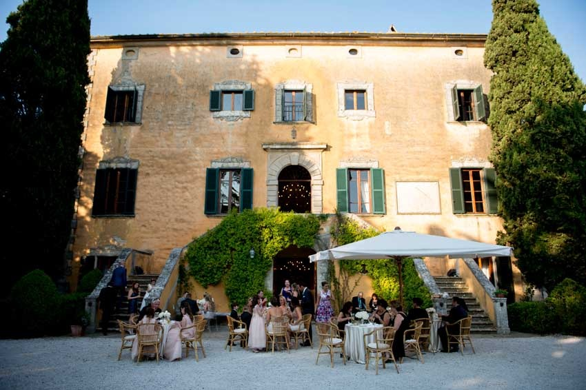 Wedding receptions in Tuscany at Villa di Ulignano