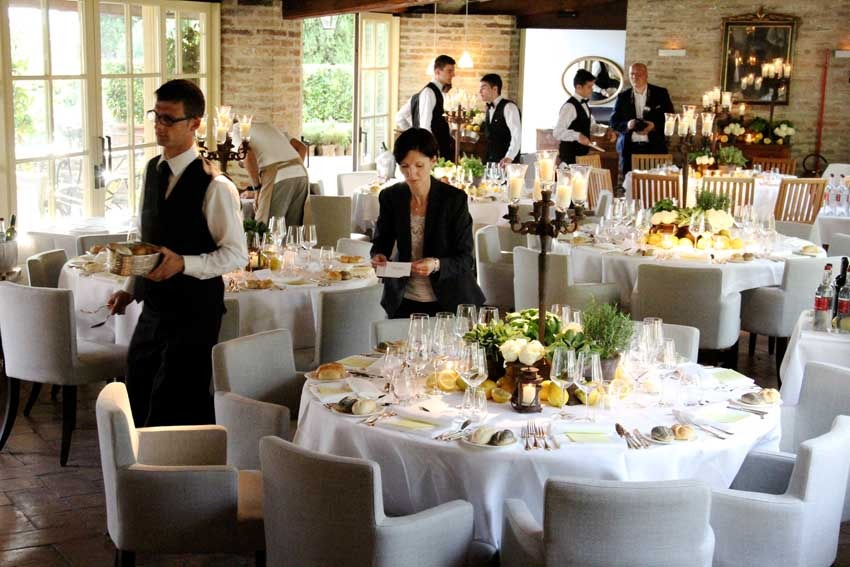 Wedding reception at Borgo San Felice near Siena