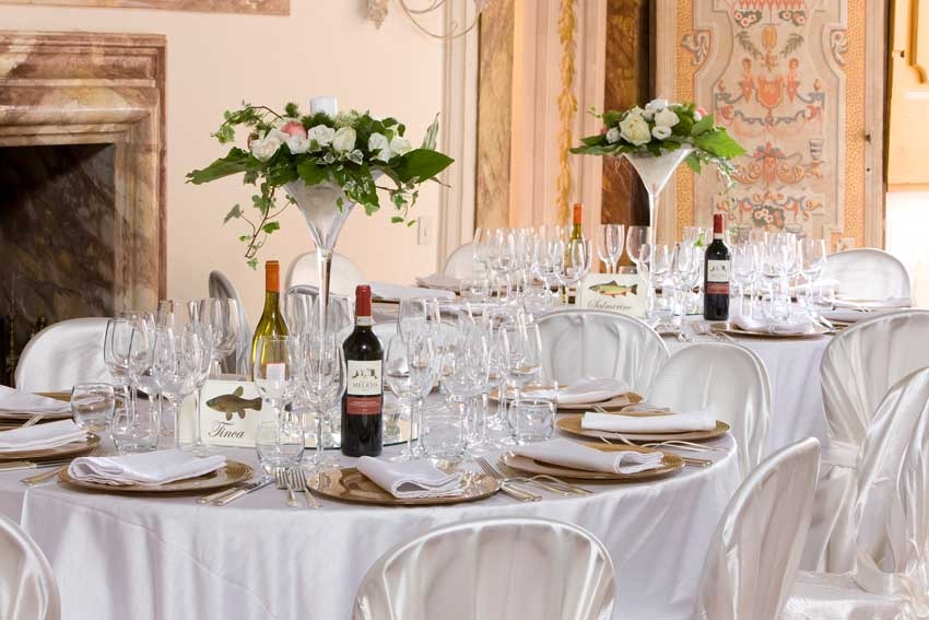 Wedding reception at Castello di Meleto in Chianti, Tuscany