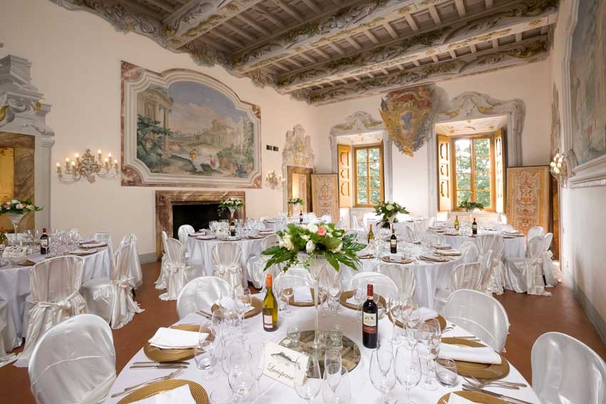 Wedding reception at Castello di Meleto in Tuscany