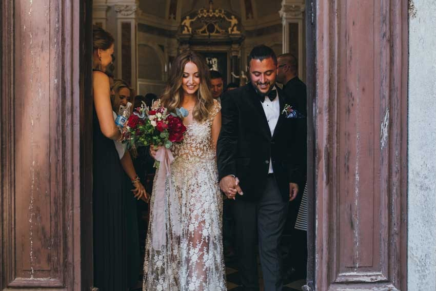 Catholic wedding at Castello di Modanella in Siena Tuscany