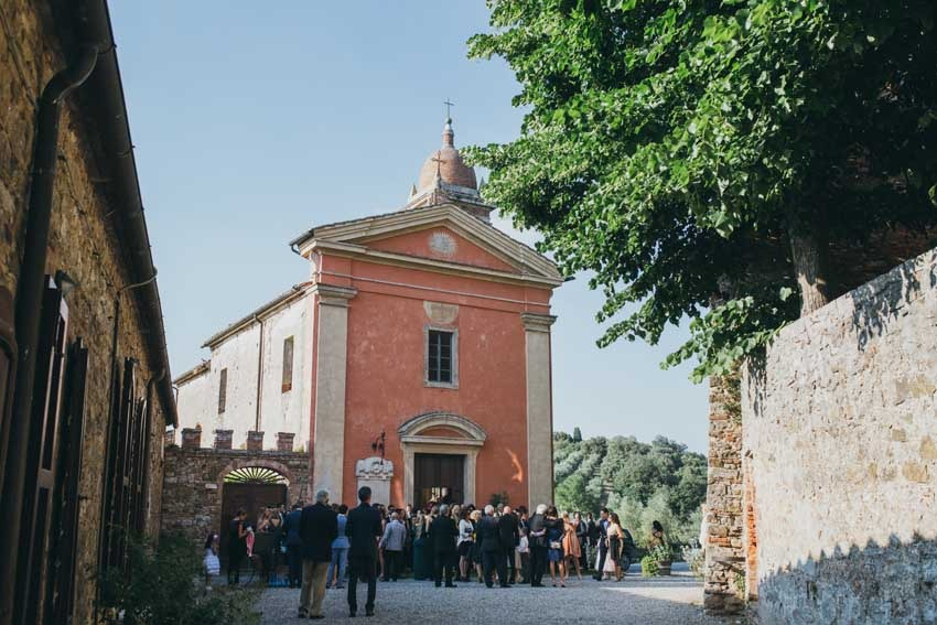 Church for catholic ceremonies at Castello di Modanella in Siena Tuscany