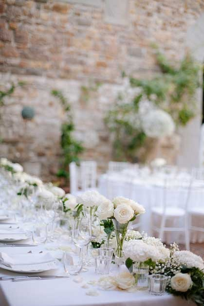 Outdoor wedding reception at Castello Il Palagio in Tuscany