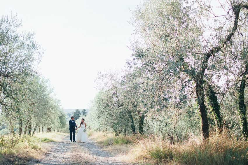 Wedding at Outdoor wedding reception at Castello Il Palagio in Tuscany