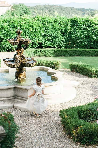 Gardens of Il Borro Relais for weddings in Tuscany