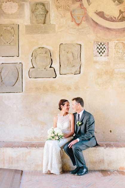 Civil wedding in Certaldo Tuscany