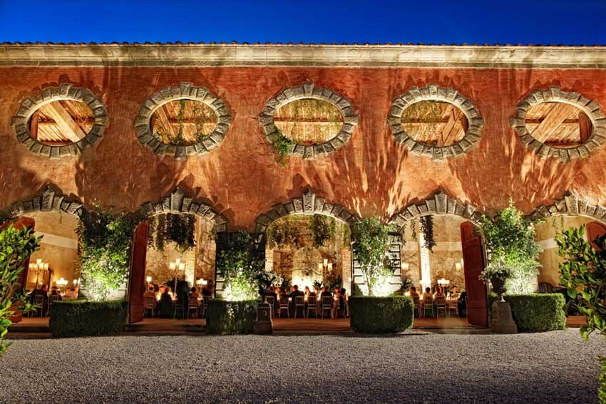 Wedding reception at Villa Grabau in Lucca, Tuscany
