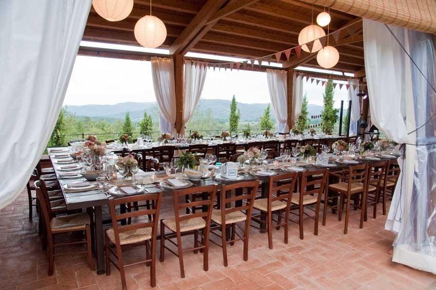 Wedding reception at Casa Cornacchi in Tuscany
