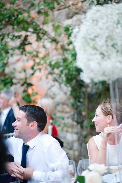 Tuscany wedding at Outdoor wedding reception at Castello Il Palagio in Chianti