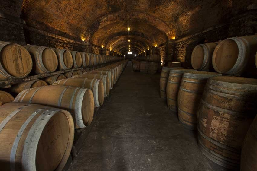 Wine cellar of Restaurant of Il Borro Relais for weddings in Tuscany