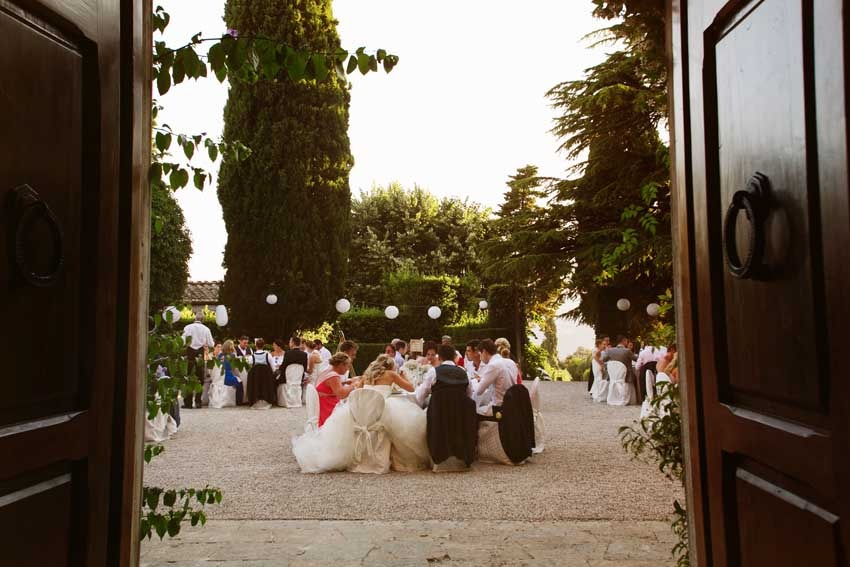 Wedding reception at Villa di Ulignano in Tuscany
