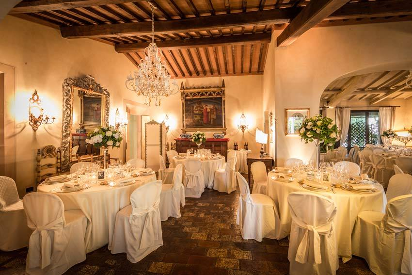 Wedding reception at Antica Fattoria Paterno in Tuscany