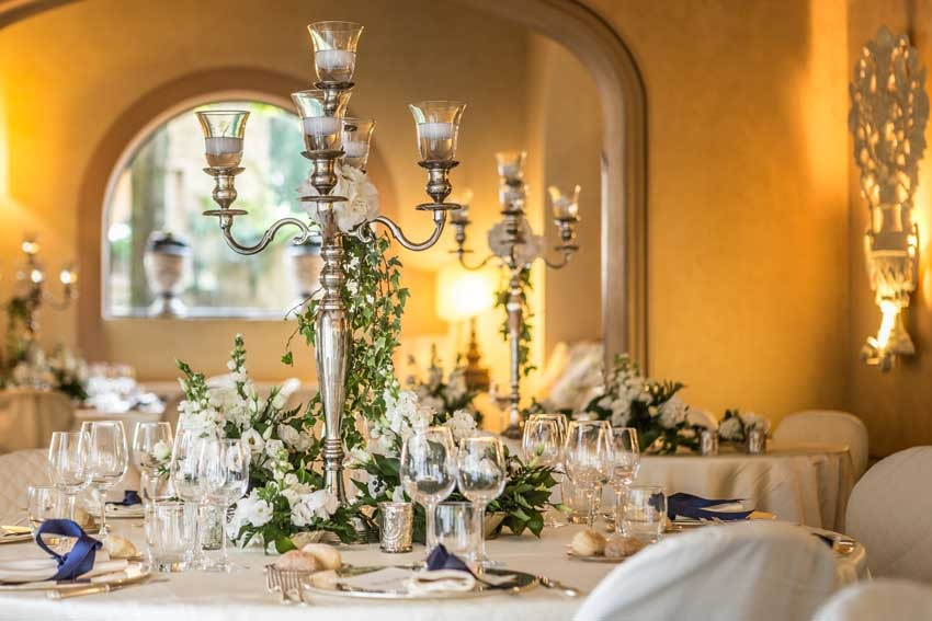 Wedding banquet at Antica Fattoria di Paterno in Tuscany