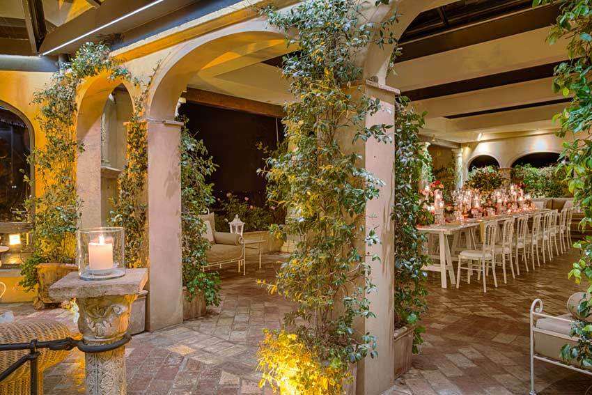 Loggia of Antica Fattoria Paterno for weddings in Tuscany