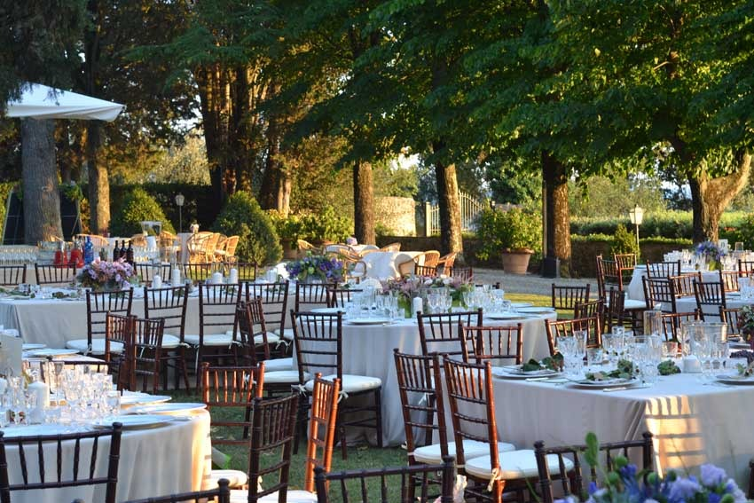 Reception at Villa Il Poggiale for weddings in Tuscany