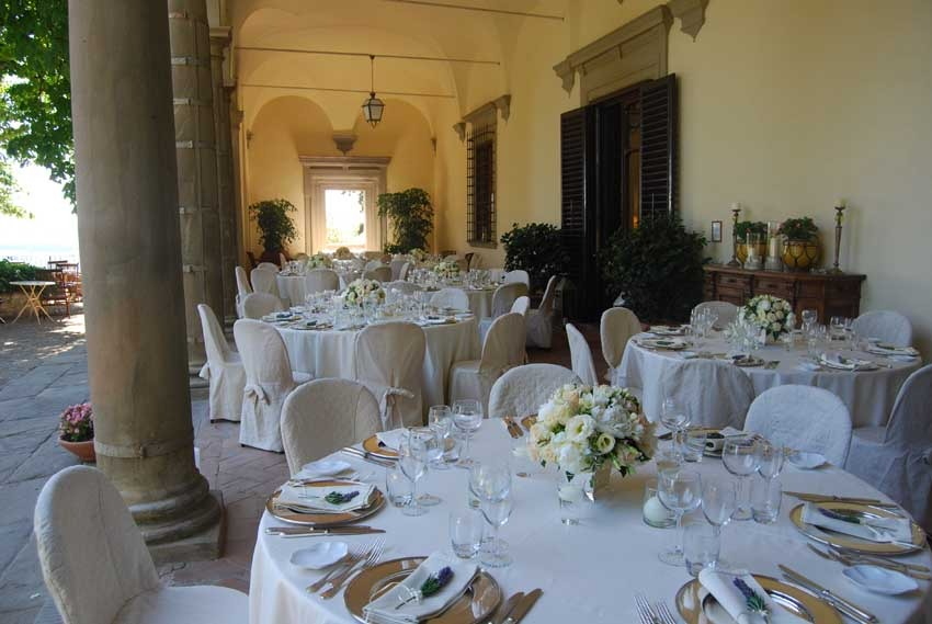 Reception atVilla Il Poggiale for weddings in Tuscany