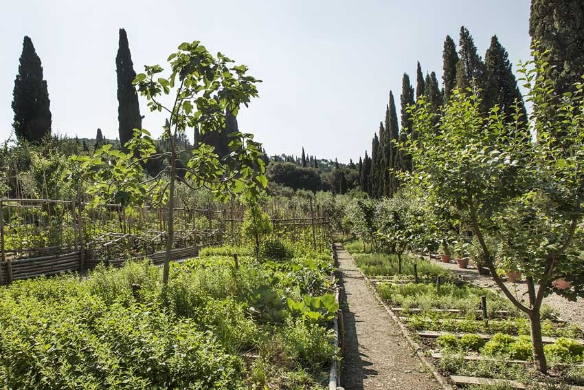 Gardens of Villa Vignamaggio for weddings in Chianti Tuscany