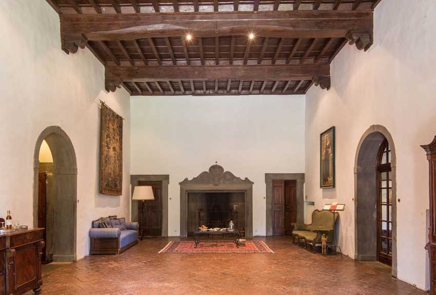 Interior of Villa Vignamaggio for weddings in Chianti Tuscany