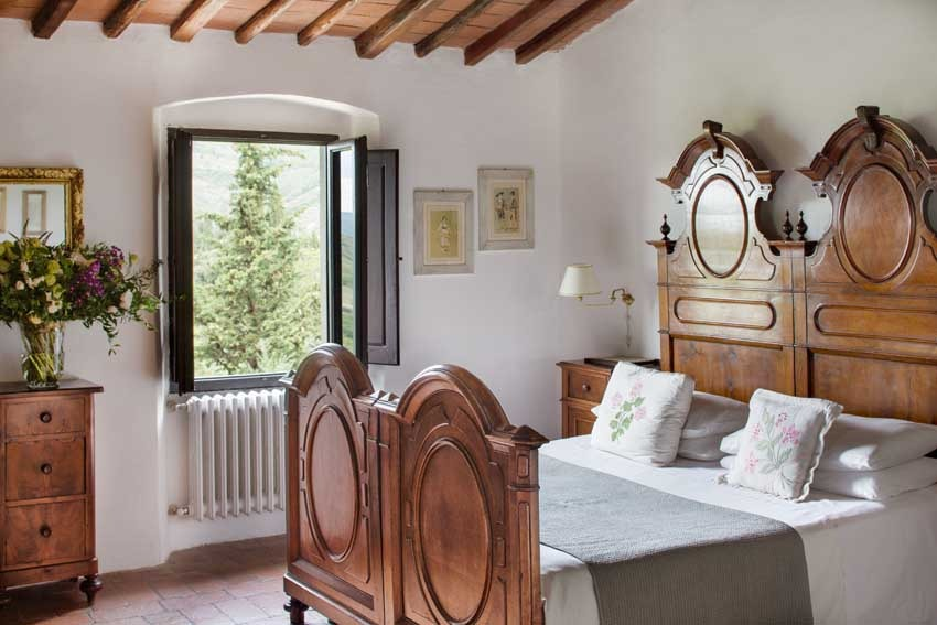 Room of Villa Vignamaggio for weddings in Chianti Tuscany