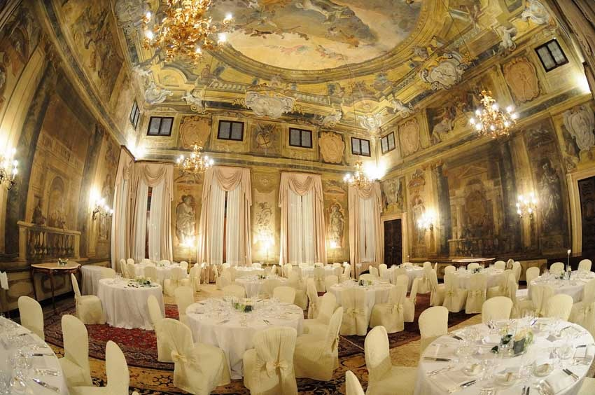 Hall of Cà Sagredo for wedding reception in Venice