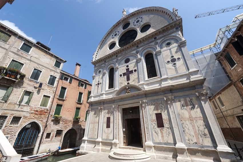 Church of Santa Maria dei Miracoli for catholic weddings in Venice