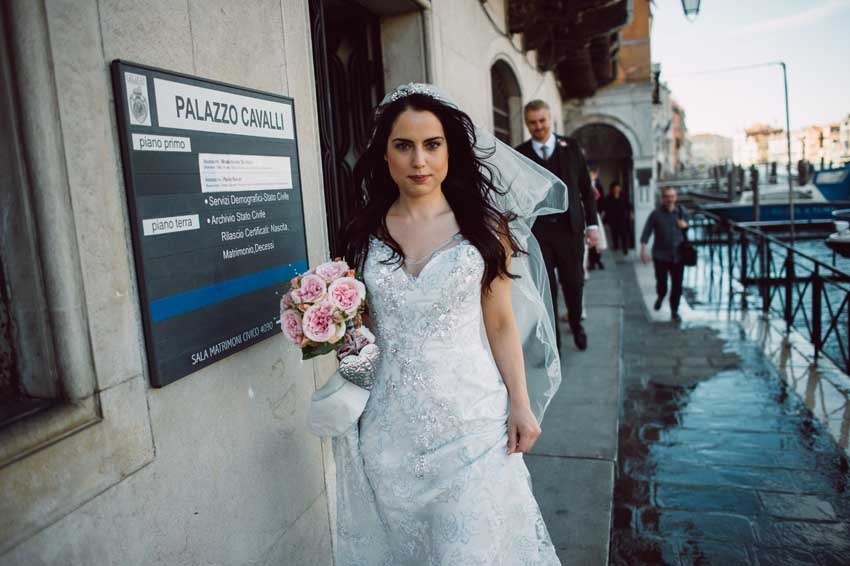 Civil ceremony at Palazzo Cavalli in Venice