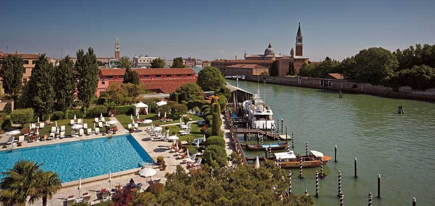 Pool of Hotel Cipriani in Venice