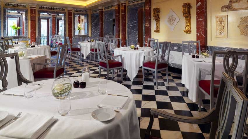 Restaurant of Europa & Regina Hotel for weddings in Venice
