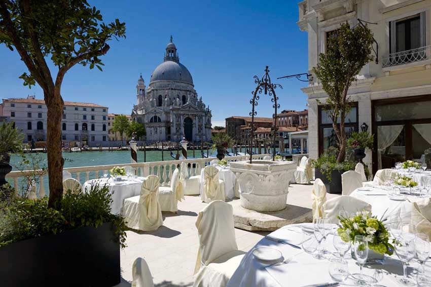 Terrace of Europa & Regina Hotel for weddings in Venice