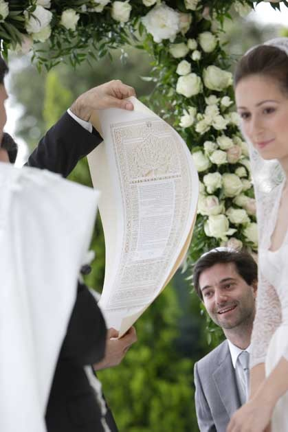 Outdoor jewish ceremony in Venice