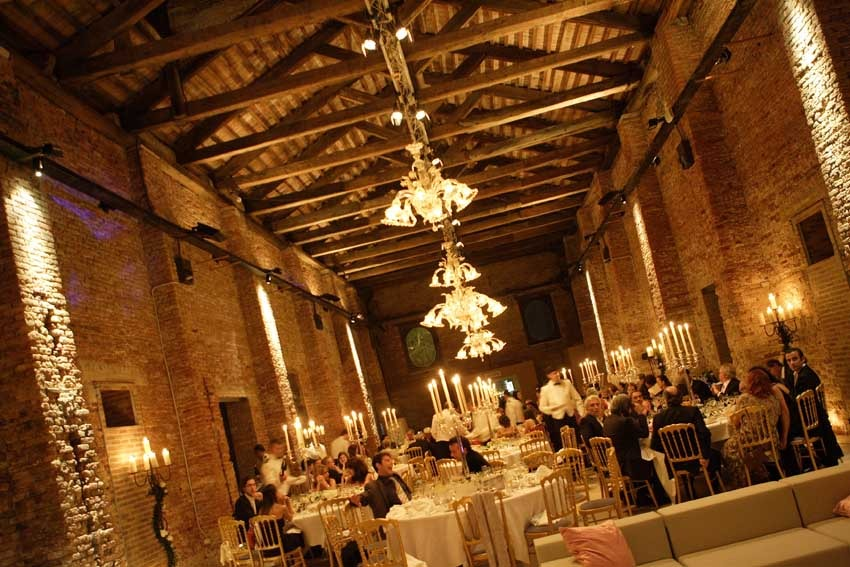 Wedding dinner at Hotel Cipriani in Venice