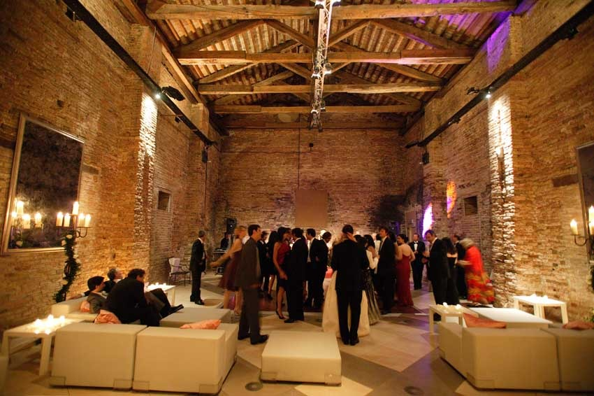 Wedding party at Hotel Cipriani in Venice