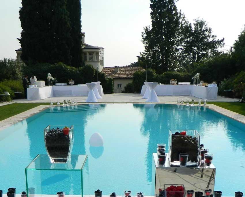 Pool of Byblos Art Hotel for weddings in Verona