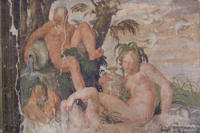 Detail of Museum of Frescoes for civil weddings in Verona