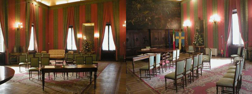 Interior of Palazzo Barbieri for civil weddings in Verona