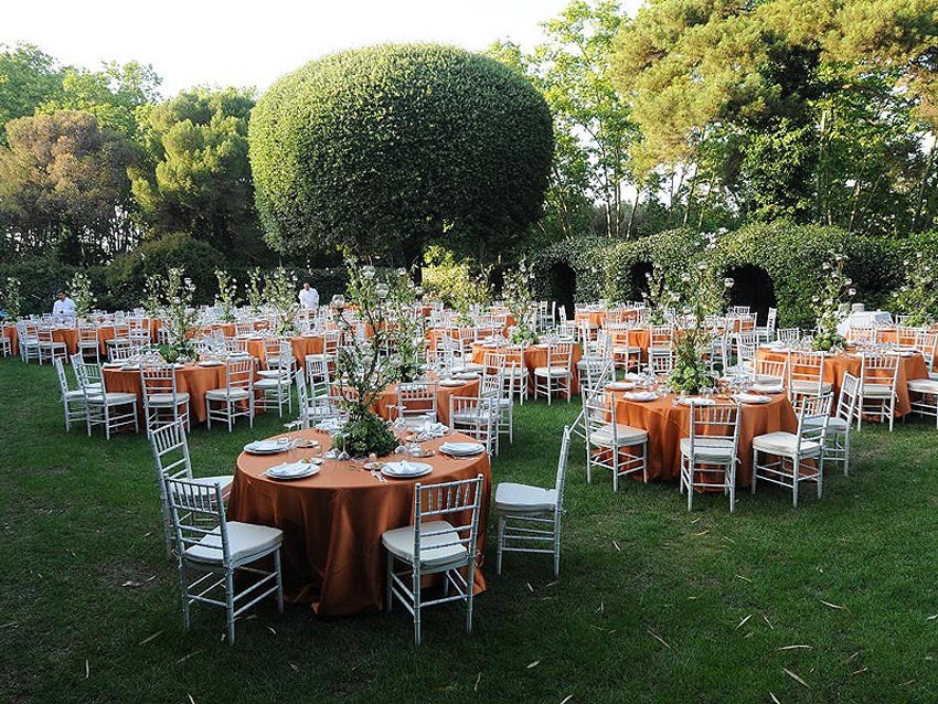 Gardens of Villa Aurelia for weddings in Rome