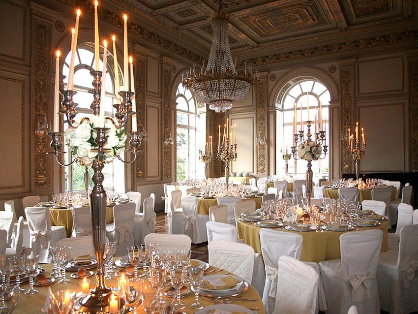 Wedding banquet at Villa Aurelia in Rome