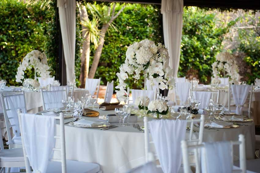Flowers for wedding reception at Villa Eva Ravello