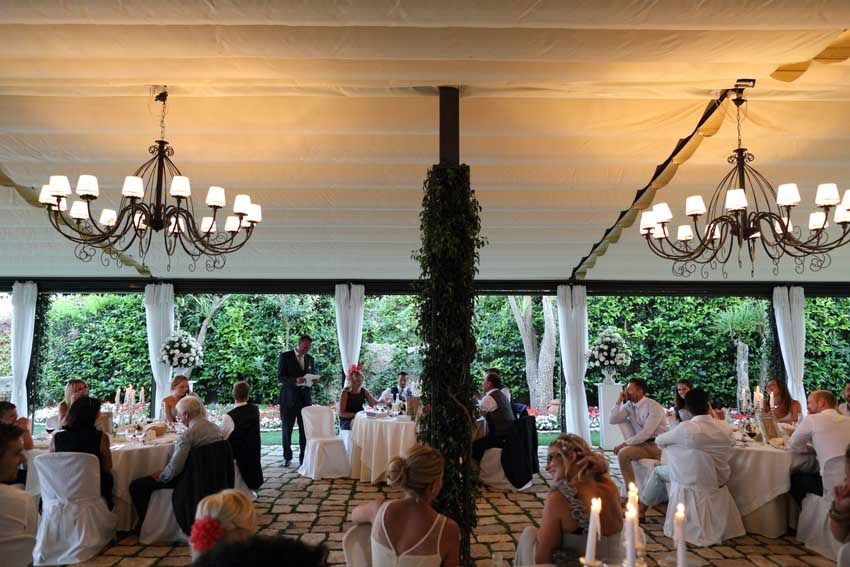 Wedding reception at Villa Eva Ravello