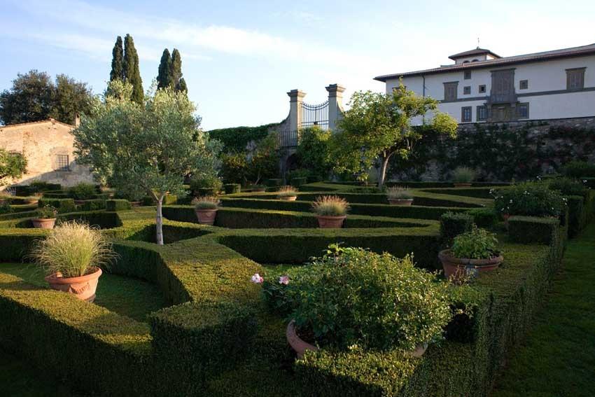 Gardens of Villa Le Corti near Florence