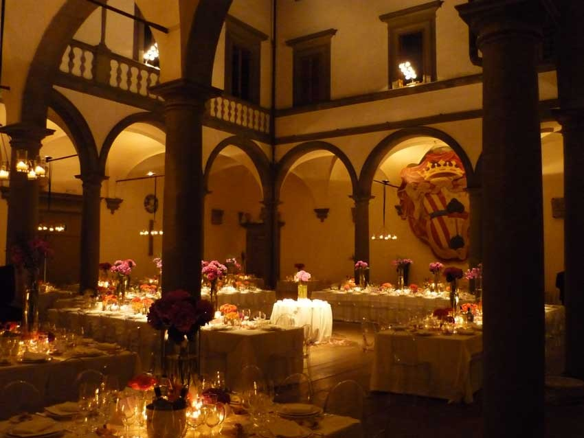 Wedding reception at Villa Le Corti in Florence