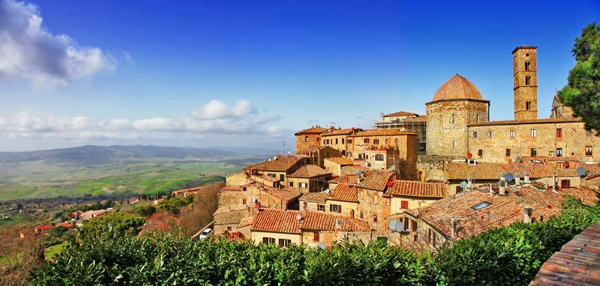 The town of Volterra in Tuscany