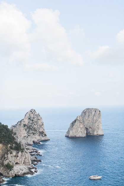 Panorama of Capri island