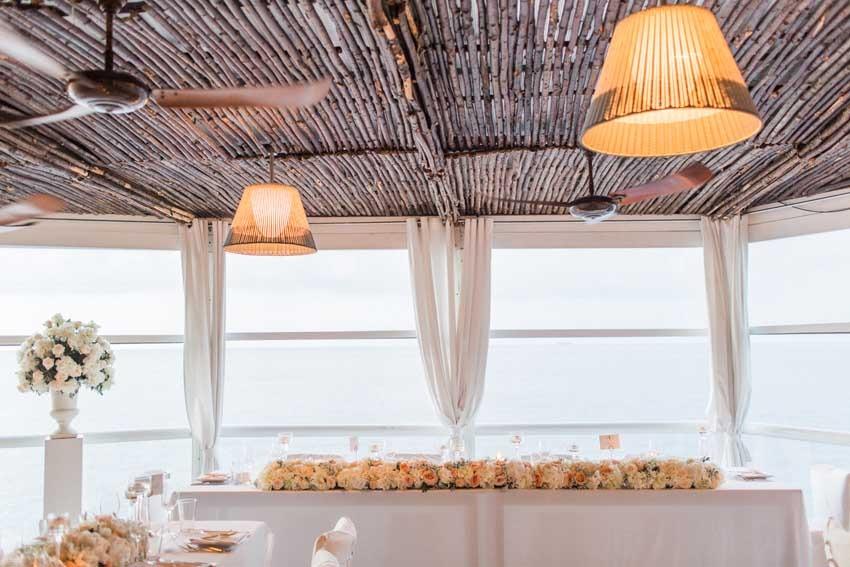 Wedding reception in Capri