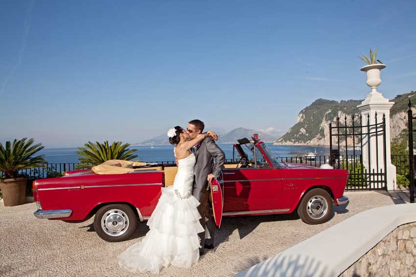 Civil wedding in Capri